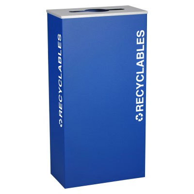 Ex-Cell RC-KD17-R-RYX Recyclables Recycling Receptacle Container - 17 Gal - Blue