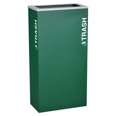 Ex-Cell RC-KD17-T-EGX Trash Recycling Receptacle Container - 17 Gal - Green