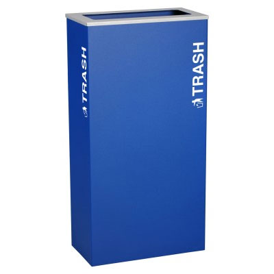 Ex-Cell RC-KD17-T-RYX Trash Recycling Receptacle Container - 17 Gal - Blue