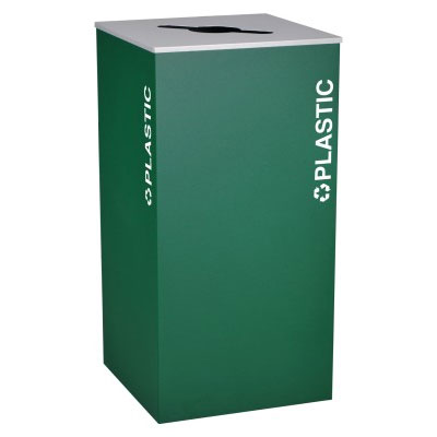 Ex-Cell RC-KD36-PL-EGX Plastic Recycling Receptacle Container - 36 Gal - Green