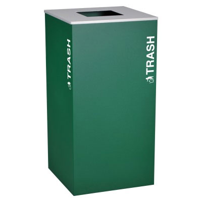 Ex-Cell RC-KD36-T-EGX Trash Recycling Receptacle Container - 36 Gal - Green