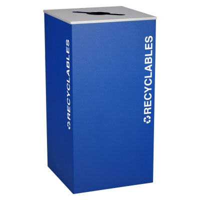 Ex-Cell RC-KD36-R-RYX Recycling Receptacle Container - 36 Gal - Blue