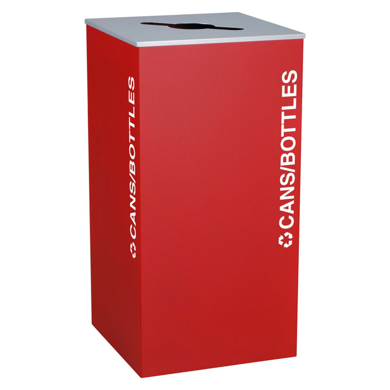 Ex-Cell RC-KD36-C-RBX Cans and Bottles Recycling Receptacle Container - 36 Gal - Red