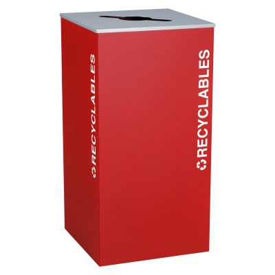Ex-Cell RC-KD36-R-RBX Recycling Receptacle Container - 36 Gal - Red
