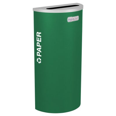 Paper Recycling Receptacle Green Bin Container EXC-RC-KDHR-P-EGX