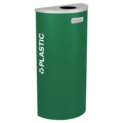 Plastic Recycling Receptacle Green Bin Container EXC-RC-KDHR-PL-EGX