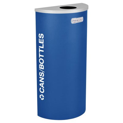 Cans and Bottles Recycling Receptacle Blue Bin Container EXC-RC-KDHR-C-RYX