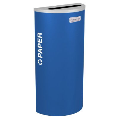 Paper Recycling Receptacle Blue Bin Container EXC-RC-KDHR-P-RYX