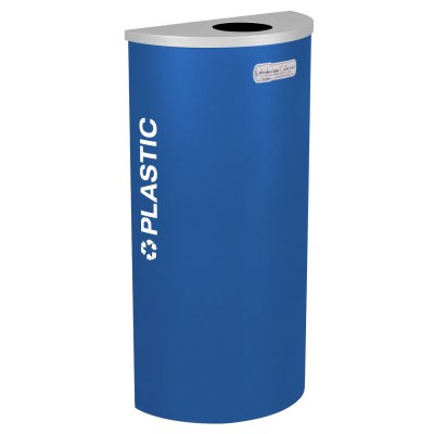 Plastic Recycling Receptacle Blue Bin Container EXC-RC-KDHR-PL-RYX