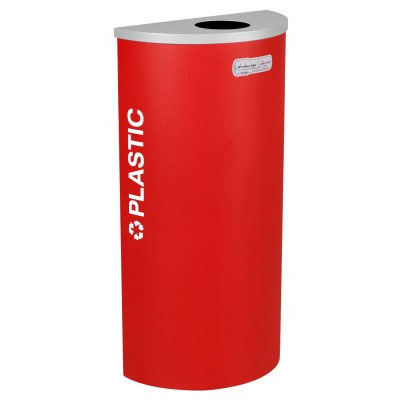 Plastic Recycling Receptacle Red Bin Container EXC-RC-KDHR-PL-RBX