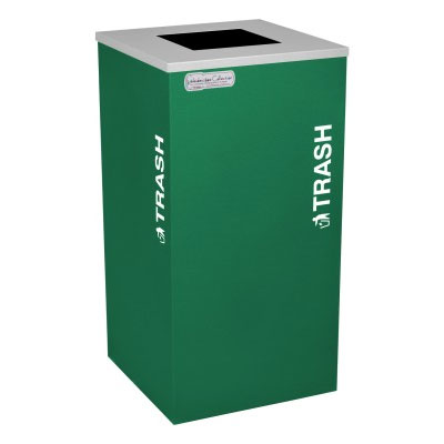 Trash Recycling Receptacle Green Bin Container