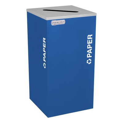Paper Recycling Receptacles Blue Bin Container EXC-RC-KDSQ-P-RYX