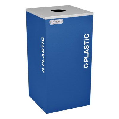 Plastic Recycling Receptacles Blue Bin Container EXC-RC-KDSQ-PL-RBX