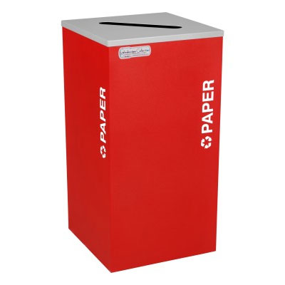 Paper Recycling Receptacle Bin Container EXC-RC-KDSQ-P-RBX