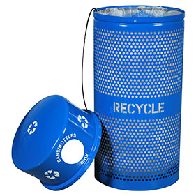 Ex-cell RC 34R DM RBL Landscape Series Cans Recycling Receptacle