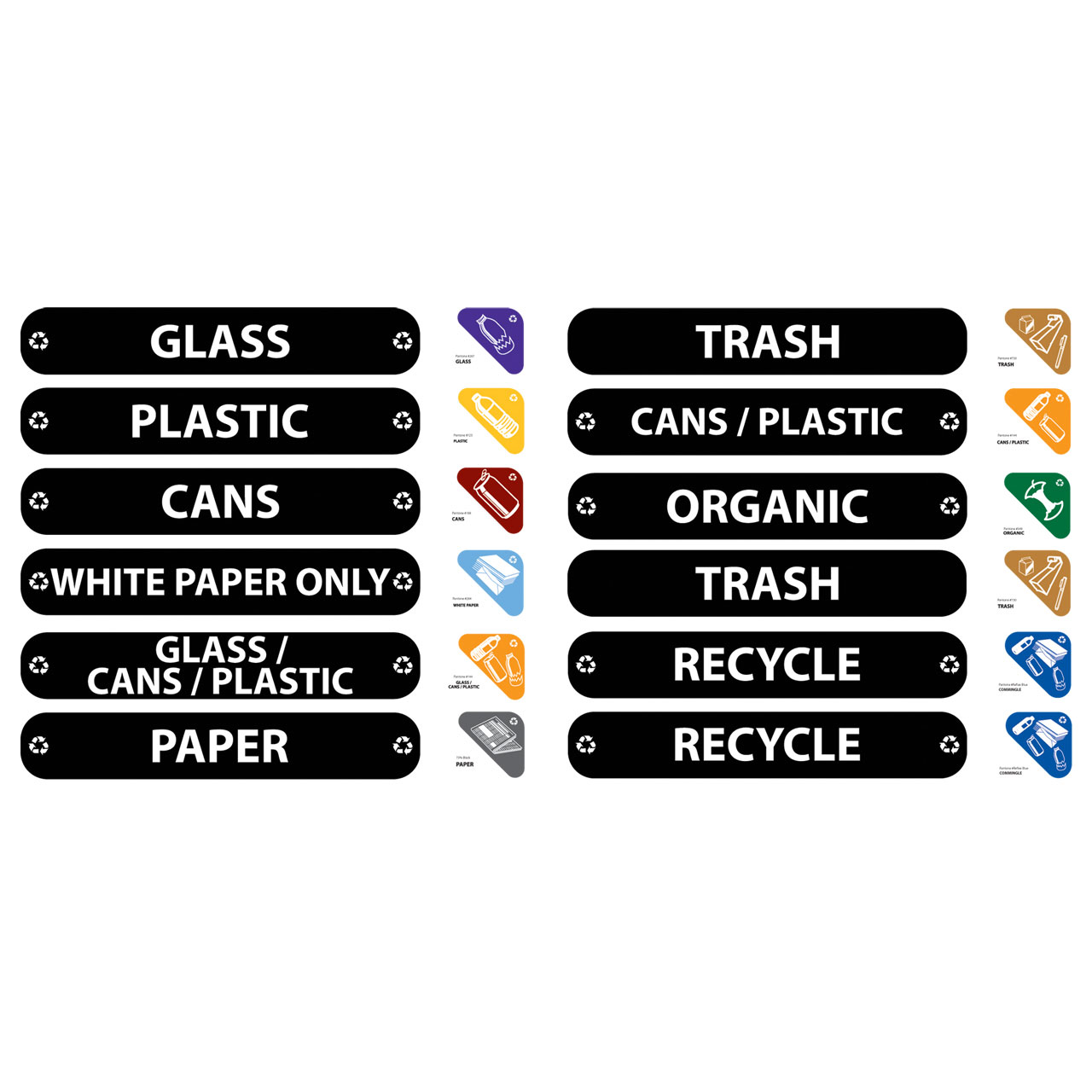 Glutton Recycling Label Kit