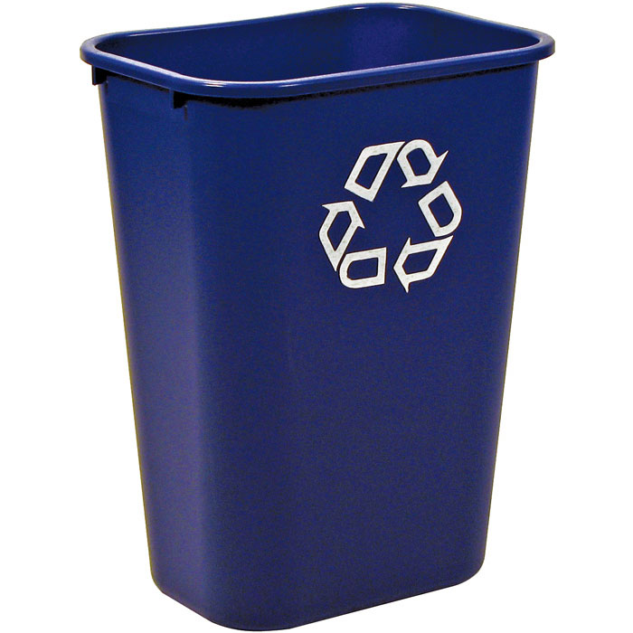 Rubbermaid Deskside Recycling Container - 41 1/4 qt.