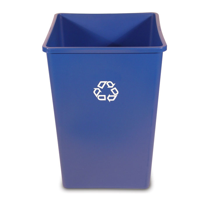 Rubbermaid Square Recycling Container - 35 Gallon