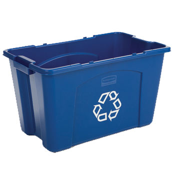 Rubbermaid Stackable Recycling Box - 18 Gallon