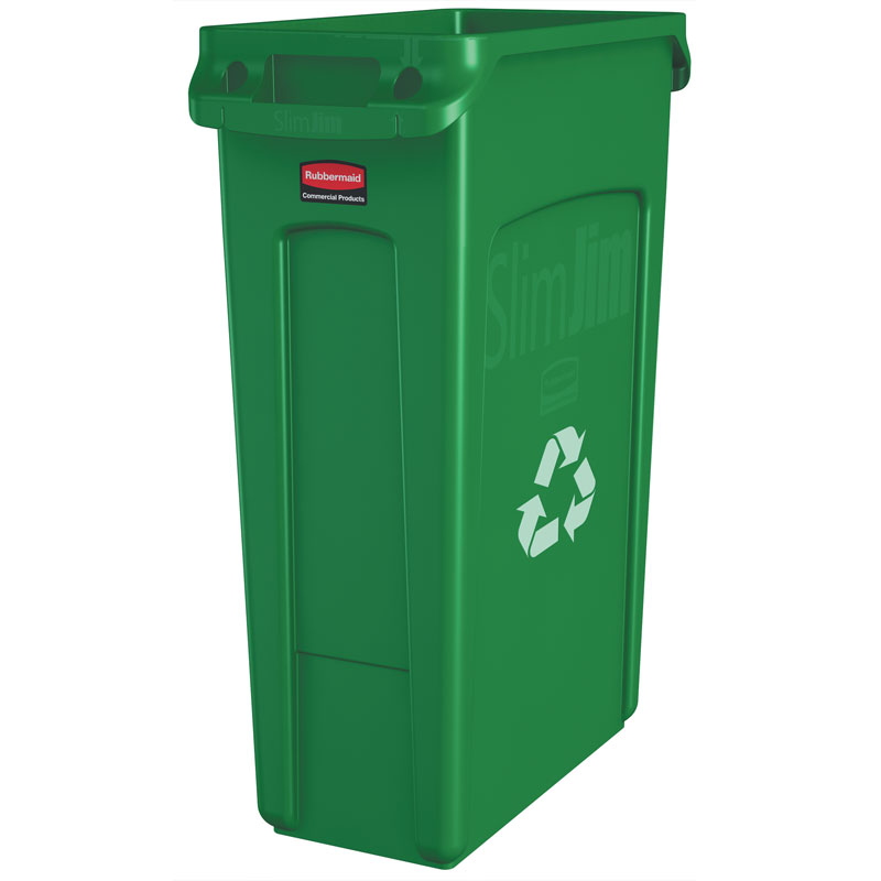 Slim Jim Recycling Container - 23 Gallon - Green