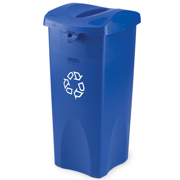 Rubbermaid [2690] Untouchable® Paper Recycling Container Top - Square - Blue