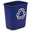 Rubbermaid [2955-73] Deskside Recycling Container - 13 5/8 qt. RCP2955-73BLU