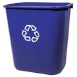 Rubbermaid [2956-73] Deskside Recycling Container - 28 1/8 qt. RCP2956-73BLU