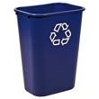 Rubbermaid [2957-73] Deskside Recycling Container - 41 1/4 qt. RCP2957-73BLU