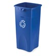 Rubbermaid [3569-73] Untouchable® Square Recycling Container - 23 Gallon RCP3569-73BLU