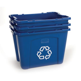 Rubbermaid [5714-73] Stackable Recycling Box - 14 Gallon