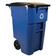 Rubbermaid [9W27-73] BRUTE® Recycling Rollout Container w/ Lid - 50 Gallon