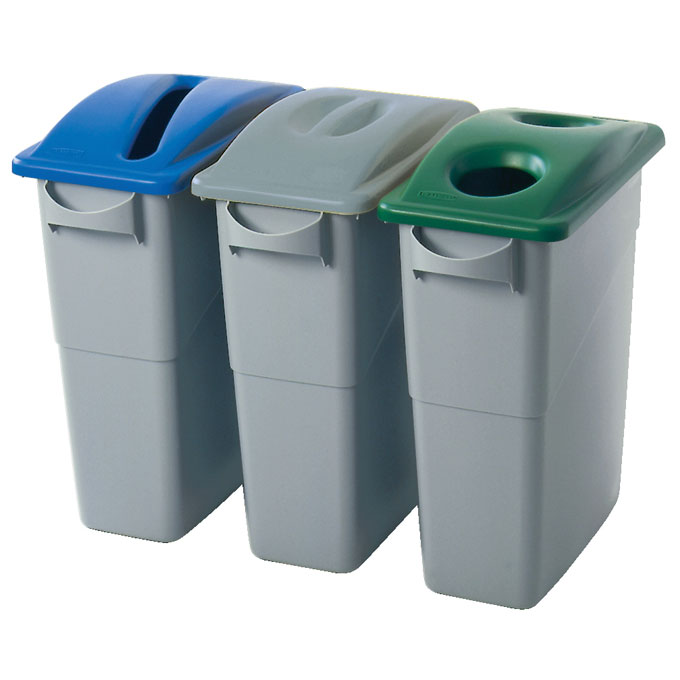 Rubbermaid [2703-88] Slim Jim® Paper Recycling Top - Blue