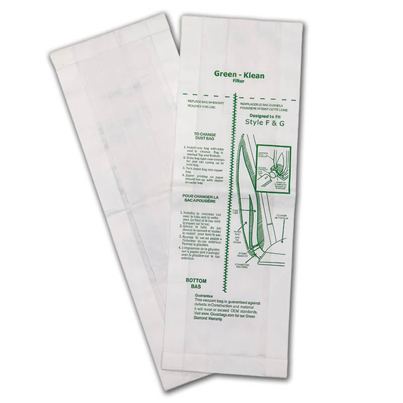 Vacuum Replacement Filter Bag - Clarke-Alto - Eureka - Kent - Powr-Flite - 10 Pack GK-F&G-10