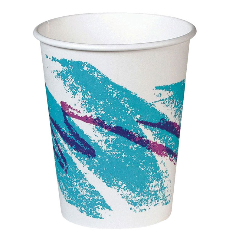 10 oz. Jazz Design Hot Paper Cups, Polycoated - (20) 50 Cups SCC370JZJ