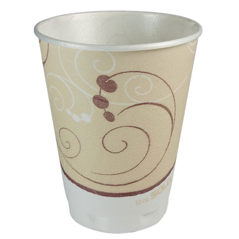 Symphony Design Trophy Foam Cups, Beige - (1000) 12 oz. Cups SCCX12J8002CT