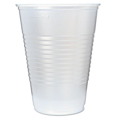 16 oz. RK Ribbed Disposable Clear Plastic Cups