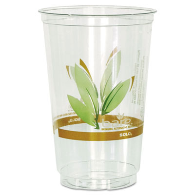 Bare RPET Plastic Cold Cups, Leaf Design - 20 oz.