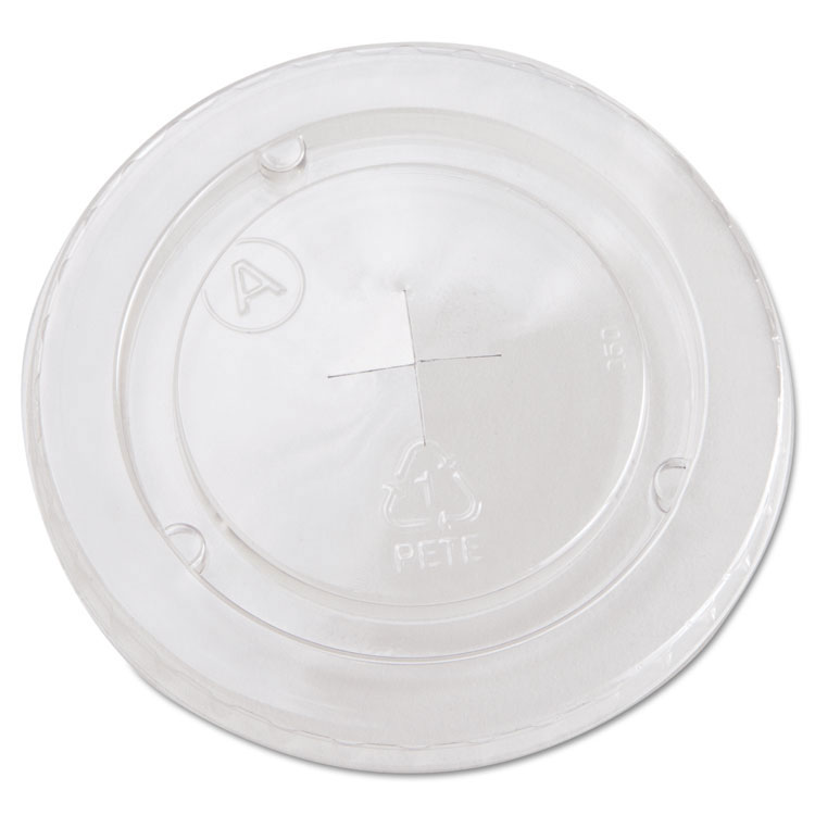 Cold Cup Straw-Slot Lids, Fits 20 oz Cups - Clear - (12) 85 Lids BWKYLP20C