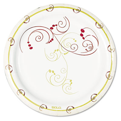 Solo Symphony Round Paper Plates, Mediumweight
