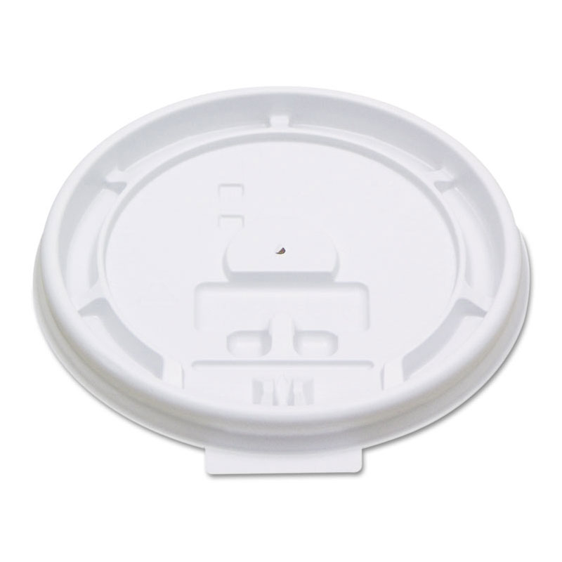 Boardwalk Hot Cup Tear-Tab Plastic Lid - White