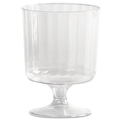 5 oz. Clear Classic Crystal Plastic Wine Glasses