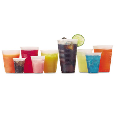 RK Ribbed Cold Drink Cups, 9oz, Clear