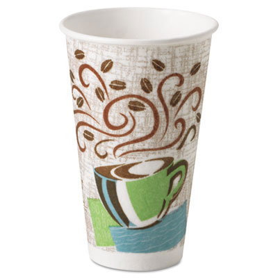 Dixie PerfecTouch Paper Hot Cup, Coffee Haze - 16 oz.