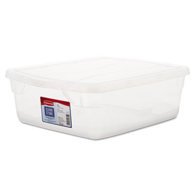Clever Store Snap-Lid Container, 3.75gal, Clear RHP3Q24CLE