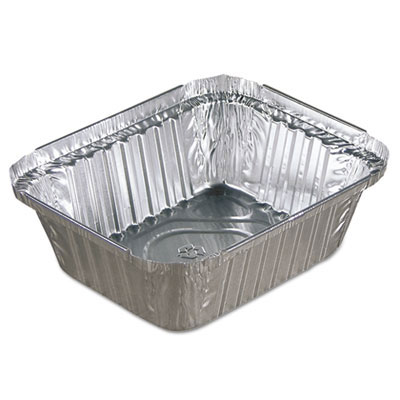 15 oz. Oblong Aluminum Food Cooking Pan