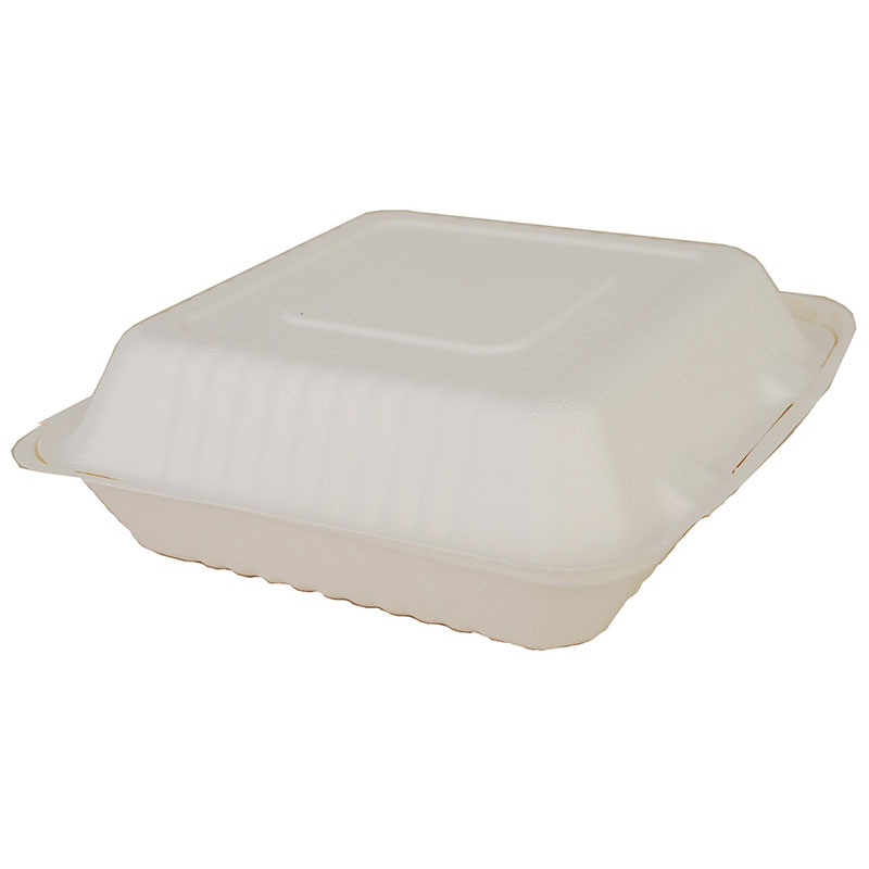 ChampWare Molded-Fiber Clamshell Containers - 9