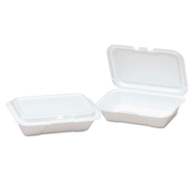 Foam Hinged Shallow Container, Small - (2) 125 Containers GNP20400