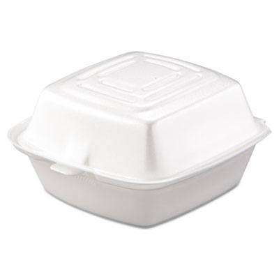 Foam Hinged Carryout Container, 1-Comp