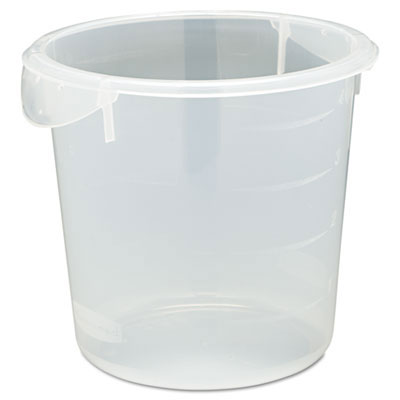 Round Storage Containers, Clear - 4 Quart