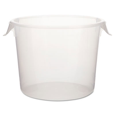 Round Storage Containers, Clear - 6 Quart RCP5723-24CLE